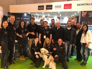 Der Bewital petfood Messestand auf der Iberzoo+Propet 2018 in Madrid.